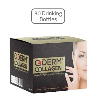C4 Collagen DERM Skin Supplements 30 Drinking Bottles