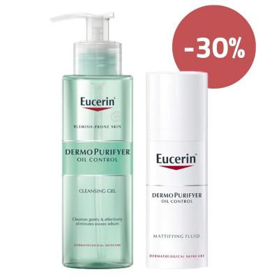 Eucerin DermoPurifyer Cleanser & Mattifying Fluid Set
