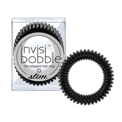 Invisibobble SLIM - True Black (3 Pieces)
