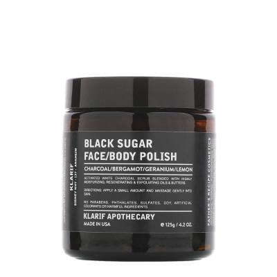 Klarif Black Sugar Face & Body Polish 125g