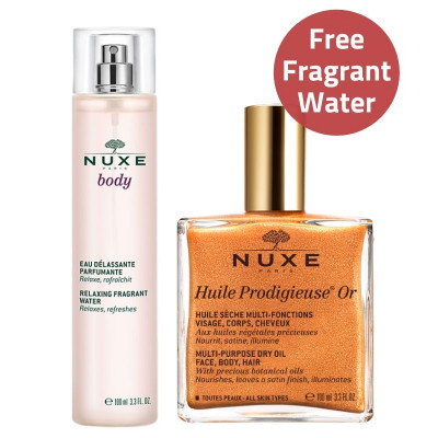 NUXE Shimmering Dry Oil & Fragrant Water Set