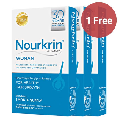 Nourkrin Woman Hair Tablets (180 Tablets) - 1 Free Offer