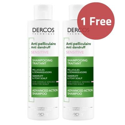 Vichy Dercos Anti-Dandruff Shampoo Sensitive Scalp 200ml