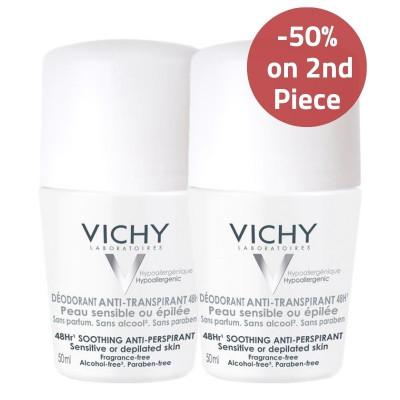 Vichy Sensitive Skin Anti-Perspirant Deodorant 50% on 2nd Piece