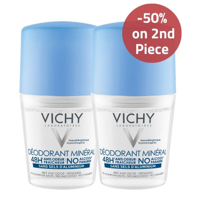Vichy Mineral Deodorant 50% on 2nd Piece Offer
